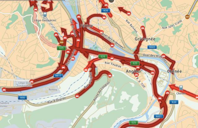 Liège: les quatre gros accès autoroutiers fermés ont rouvert