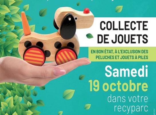 Recyparcs : traditionnelle collecte de jouets en bon état