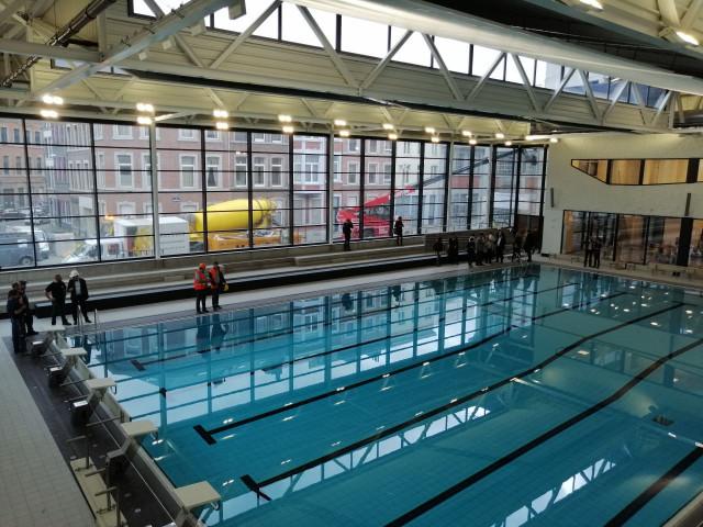 Premières images des bassins de la piscine Jonfosse