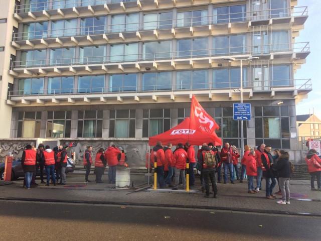 Proximus : des actions de blocage devant plusieurs bâtiments administratifs en Wallonie et en Flandre