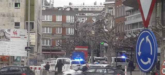 Course-poursuite au centre de Liège