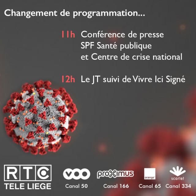 """Retransmission de la conférence de presse """"COVID-19"""""""