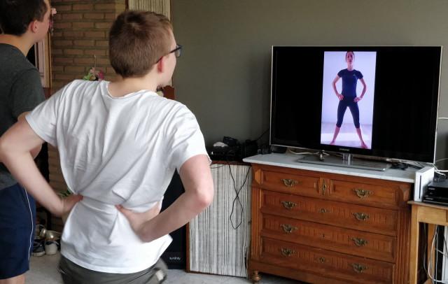Cours de gym en ligne avec Madame Marie