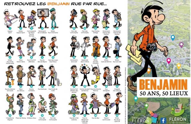 Benjamin, le personnage BD, vous attend en 50 lieux de Fléron