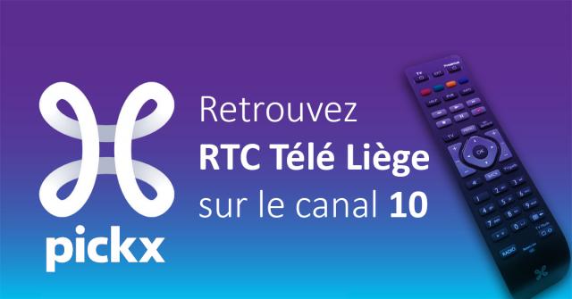 Retrouvez RTC Télé Liège sur le canal 10 sur Proximus Pickx