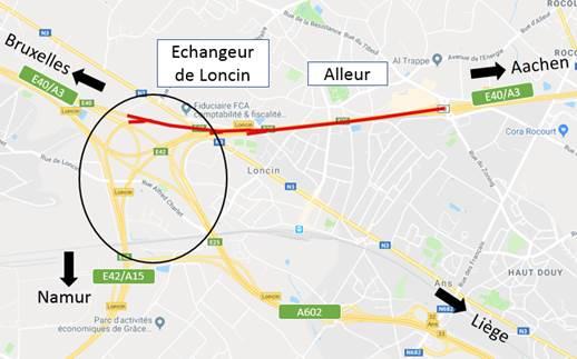 E40/A3 : fermeture nocturne entre Alleur et Loncin