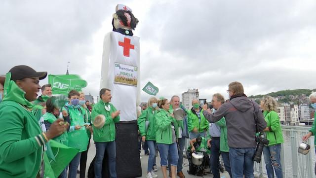Une centaine de travailleurs du secteur non-marchand mobilisée ce jeudi à Liège