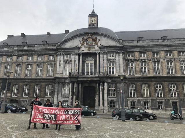 Action contre le racisme et la brutalité policière à Liège