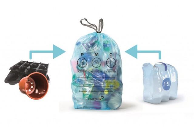 Un rouleau de sacs bleus PMC en plus pour chaque ménage liégeois