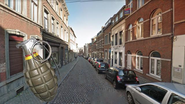 Une grenade trouvée dans une habitation rue Saint-Gilles