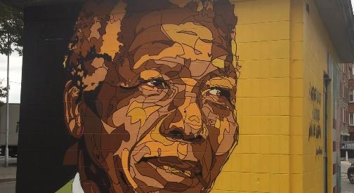 2 fresques pour les 100 ans de Nelson Mandela