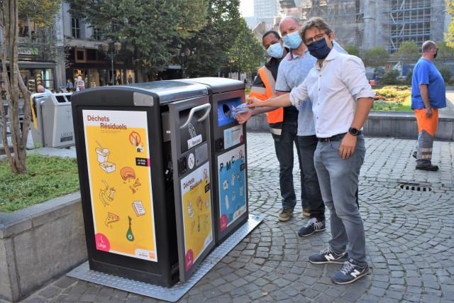 24 nouvelles poubelles intelligentes et connectées au centre de Liège