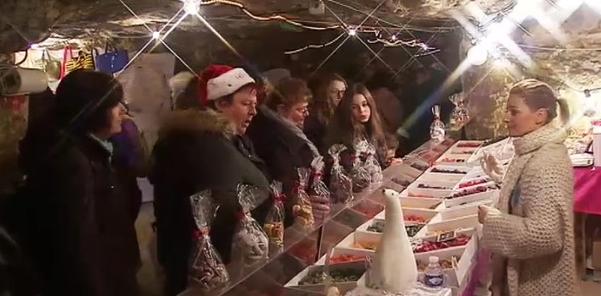 Le marché de Noël des grottes de Wonck