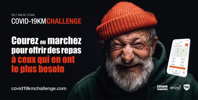 Covid-19Km Challenge : courez pour la bonne cause!