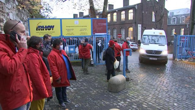 Action syndicale à l'Institut Royal pour Handicapés de l'Ouïe et de la Vue
