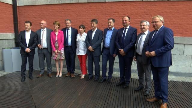 Alda Greoli et Pierre-Yves Jeholet, nouveaux ministres wallons