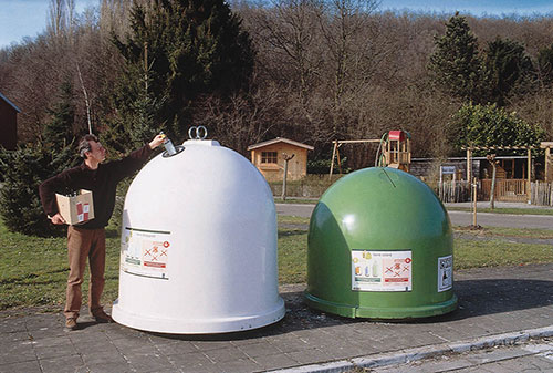 Aménagement des recyparcs : retrait des bulles à verre