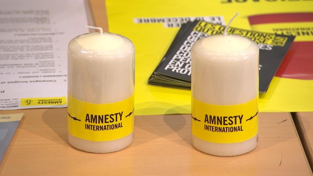 """Amnesty: campagne """"Bougies"""""""