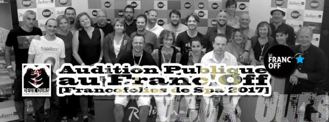 Audition publique de groupes pour le Franc'off 2017 aux Deux Ours