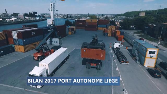Bilan 2017 du Port autonome de Liège