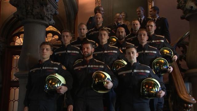 Pompiers: Remise des casques