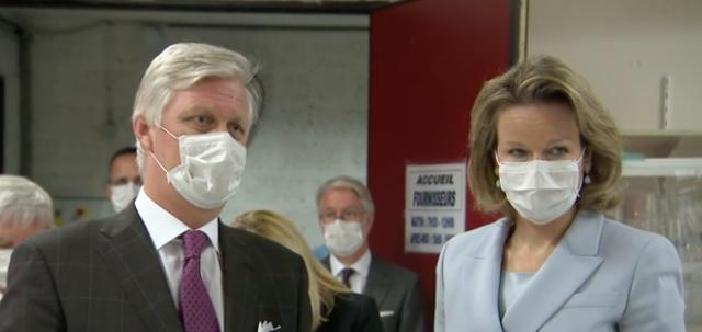 CHR Liège: le couple royal encourage le personnel de l'hôpital