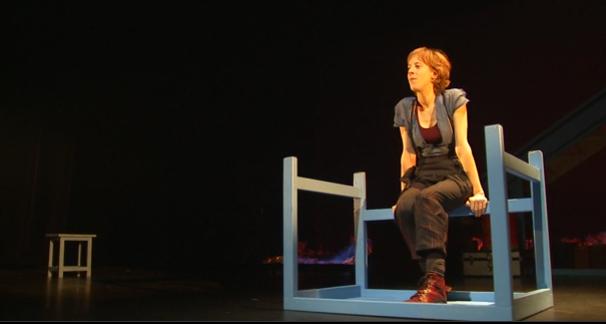Christelle Cornil à Huy avec le Voyage d'Anna