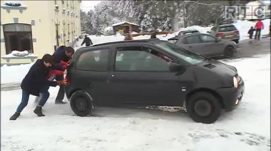 Circuler sur la neige, pas toujours simple