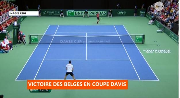 Coupe Davis : la Belgique se qualifie pour les quarts de finale