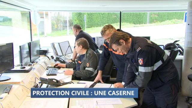 Crisnée, seule caserne de la protection civile en Wallonie