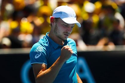 David Goffin en 1/8ème de finale à Madrid