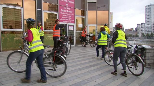 Des bibliothécaires-cyclistes de passage à Liège