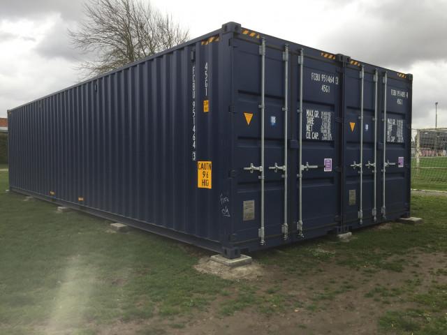 Des containers feront office de buvette