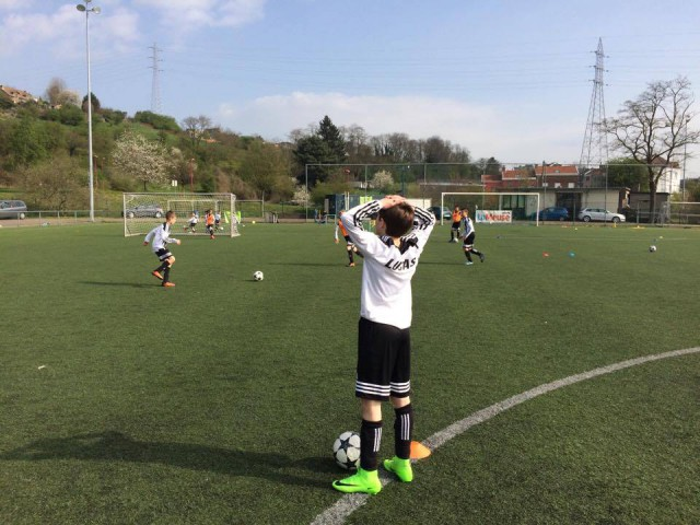 Des enfants en stage avec la Juventus de Turin à Tilleur