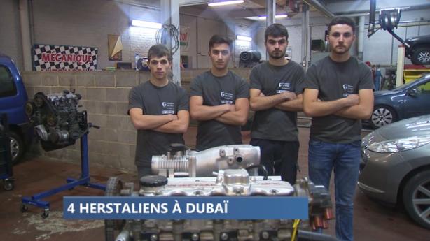 Des étudiants en mécanique automobile aux 24h de Dubaï