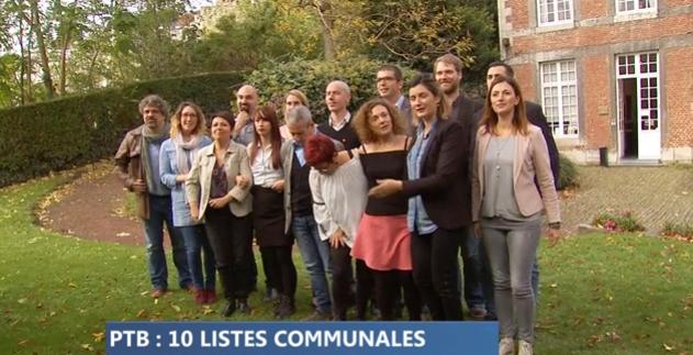 Des listes PTB dans 10 communes de la province en 2018