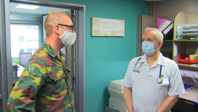 Des militaires viennent à l'aide des hôpitaux liégeois