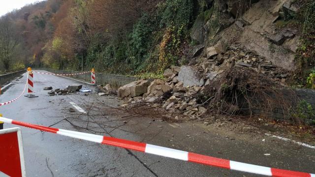 Route Esneux-Poulseur : les images de l'éboulement