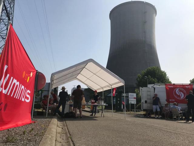 EDF Luminus: grève dans un climat tendu à Seraing