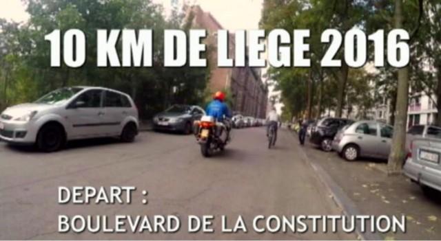 Embarquez avec le mesureur officiel des 10 km Liège (vidéo)