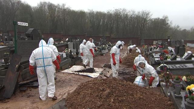 Exhumations à Seraing