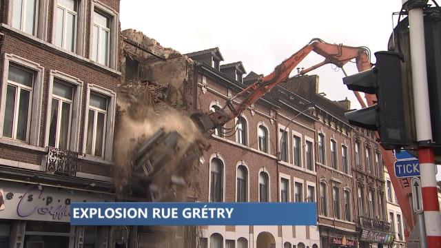 Explosion de la rue Gretry : on démolit la maison