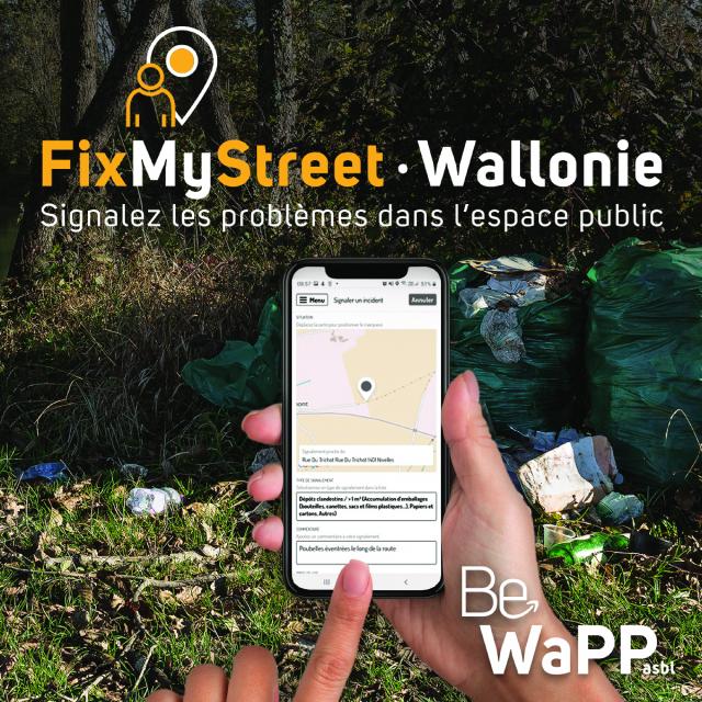 FixMyStreet Wallonie : une application anti-déchets à Grâce-Hollogne