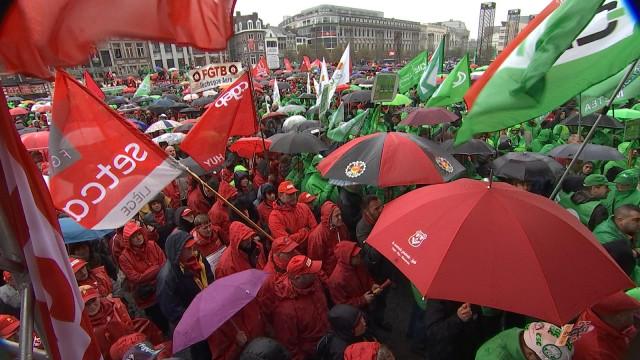 Forte mobilisation syndicale contre la réforme des pensions