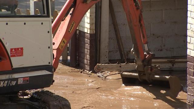 Fortes pluies et inondations en Hesbaye