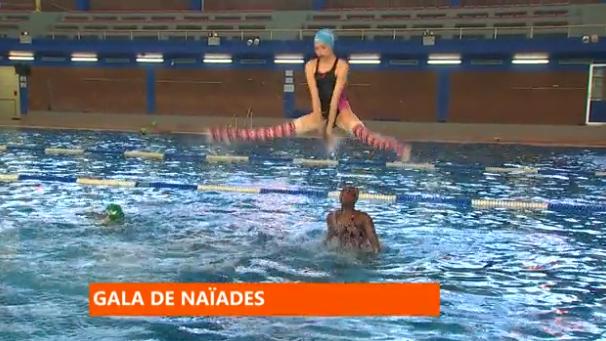 Gala de natation synchronisée : ultime entrainement