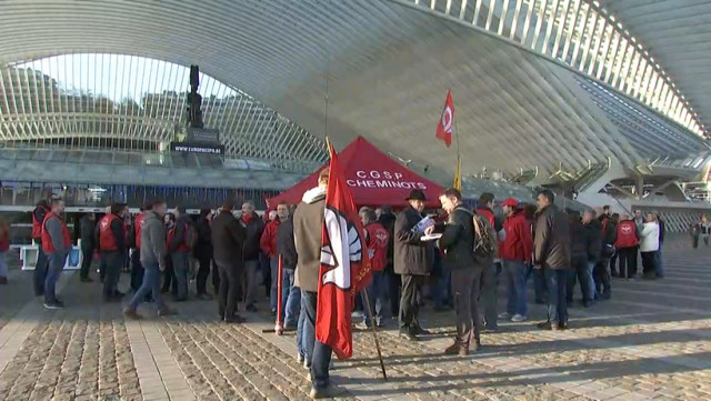 Grève SNCB : le mouvement est bien suivi en Wallonie