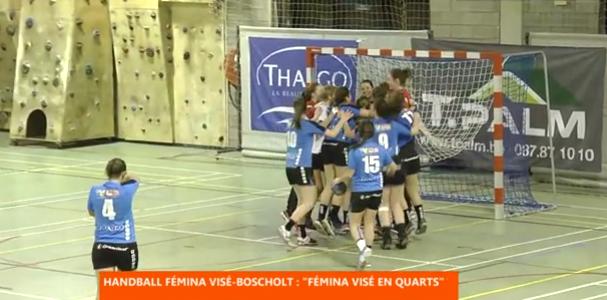 Handbal : le Fémina Visé en quart de finale de la Coupe