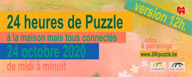 Hannut : 24 hrs puzzle réduites de moitié et virtuelles