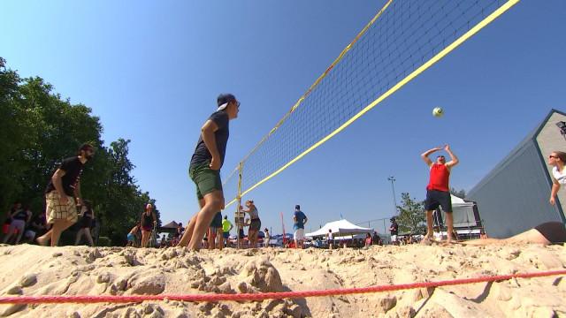 Hermalle-sous-Argenteau : un beach-volley bon enfant